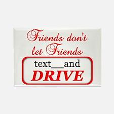 Friends Don't Let Friends Tex Rectangle Magnet