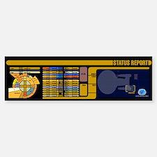 Star Trek LCARS Status Report Bumper Bumper Bumper Sticker