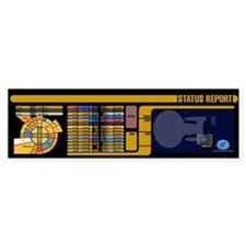 Star Trek LCARS Status Report Bumper Car Sticker