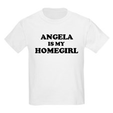Angela Is My Homegirl Kids T-Shirt