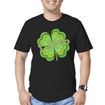 Vintage Lucky 4-leaf Clover Men's Fitted T-Shirt (