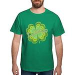 Vintage Lucky 4-leaf Clover Dark T-Shirt