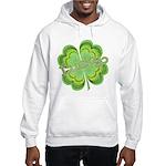Vintage Lucky 4-leaf Clover Hooded Sweatshirt