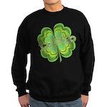 Vintage Lucky 4-leaf Clover Sweatshirt (dark)