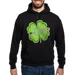 Vintage Lucky 4-leaf Clover Hoodie (dark)