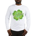 Vintage Lucky 4-leaf Clover Long Sleeve T-Shirt