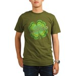 Vintage Lucky 4-leaf Clover Organic Men's T-Shirt