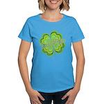 Vintage Lucky 4-leaf Clover Women's Dark T-Shirt