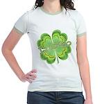 Vintage Lucky 4-leaf Clover Jr. Ringer T-Shirt