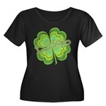 Vintage Lucky 4-leaf Clover Women's Plus Size Scoo