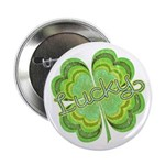 "Vintage Lucky 4-leaf Clover 2.25"" Button"