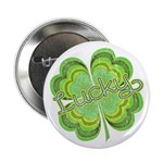 """Vintage Lucky 4-leaf Clover 2.25"""" Button (100 pack"""