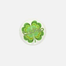 Vintage Lucky 4-leaf Clover Mini Button (100 pack)