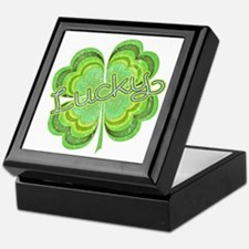 Vintage Lucky 4-leaf Clover Keepsake Box