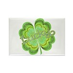 Vintage Lucky 4-leaf Clover Rectangle Magnet (10 p