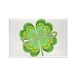 Vintage Lucky 4-leaf Clover Rectangle Magnet (100