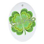Vintage Lucky 4-leaf Clover Ornament (Oval)