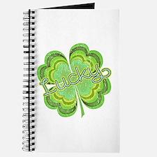 Vintage Lucky 4-leaf Clover Journal