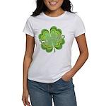 Vintage Lucky 4-leaf Clover Women's T-Shirt