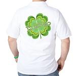 Vintage Lucky 4-leaf Clover Golf Shirt