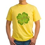 Vintage Lucky 4-leaf Clover Yellow T-Shirt