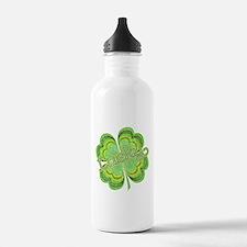 Vintage Lucky 4-leaf Clover Water Bottle