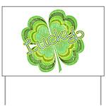 Vintage Lucky 4-leaf Clover Yard Sign
