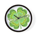 Vintage Lucky 4-leaf Clover Wall Clock