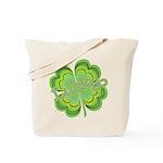 Vintage Lucky 4-leaf Clover Tote Bag