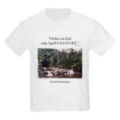 """I Believe In God"" Kids Light T-Shirt"