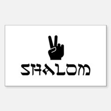 Shalom Rectangle Decal