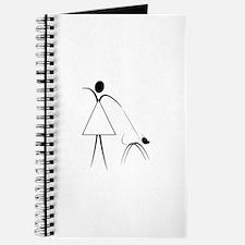 lady walking the dog Journal