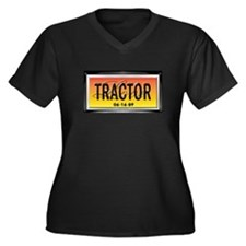 Love Tractor Women's Plus Size V-Neck Dark T-Shirt