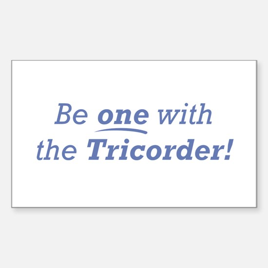 Be one / Tricorder Sticker (Rectangle)