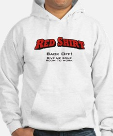 Red Shirt / Back Off Hoodie