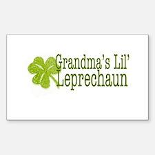 Grandma's Leprechaun Sticker (Rectangle)
