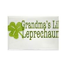 Grandma's Leprechaun Rectangle Magnet