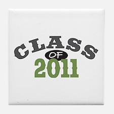 Class Of 2011 Green Tile Coaster