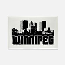 Winnipeg Skyline Rectangle Magnet