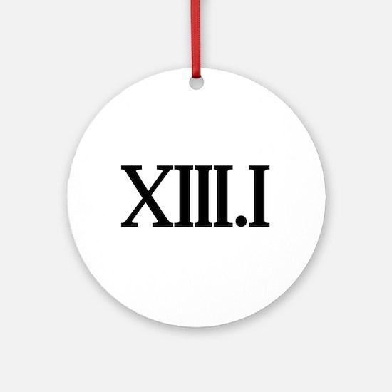 13.1 HALF MARATHON SHIRT T SH Ornament (Round)
