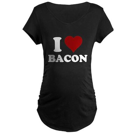 I heart bacon Maternity Dark T-Shirt