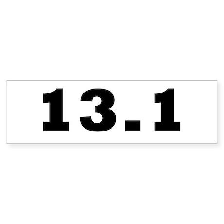 13.1 HALF MARATHON STICKER BU Sticker (Bumper 10 p