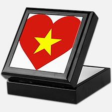 Flag of Vietnam - I Love Viet Nam Keepsake Box