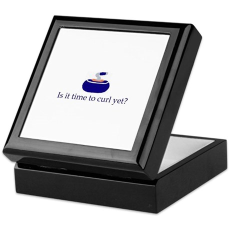 """Is it time to curl yet?"" Keepsake Box"