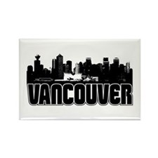 Vancouver Skyline Rectangle Magnet