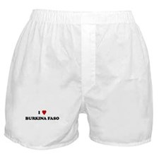 I Love Burkina Faso Boxer Shorts