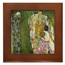 Gustav Klimt Art Framed Tile Death & Life