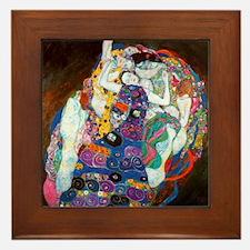 Gustav Klimt Art Framed Tile Maiden