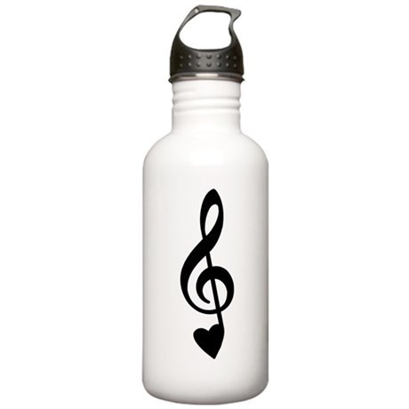 Treble Clef Love Note 2 Stainless Water Bottle 1.0