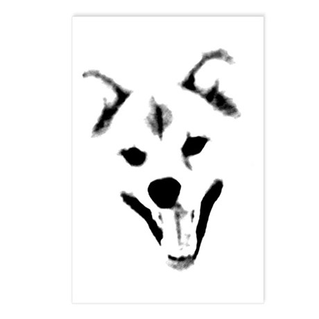 Happy Shiba Face Postcards (Package of 8)